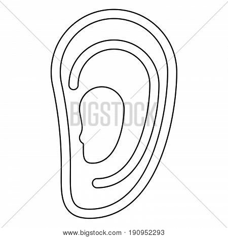 Ear   The Black Color Icon .