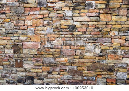 Old grunge exterior building wall backdrop view
