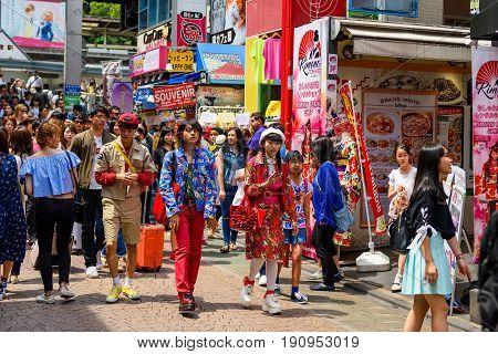 Japanese Teenagers At Harajuku