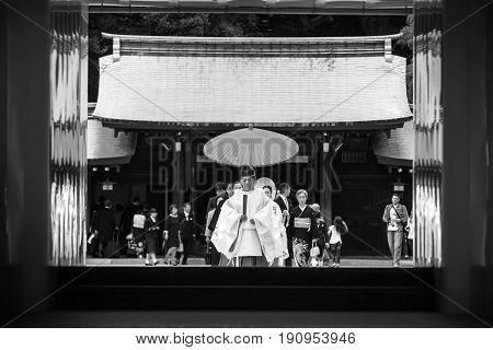 Shinto Wedding At Meiji Shrine, Tokyo