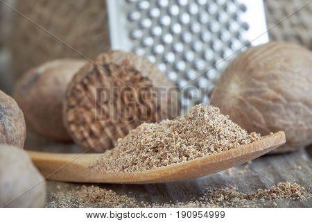 Group Of Nutmeg Seeds