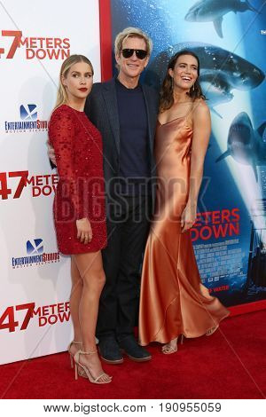 LOS ANGELES - JUN 12:  Claire Holt, Matthew Modine, Mandy Moore at the
