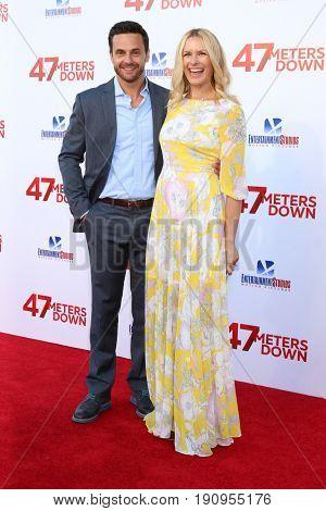 LOS ANGELES - JUN 12:  Chris J Johnson, Amy Laughlin at the