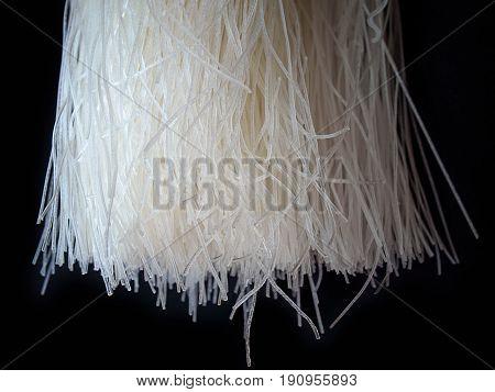 (Close up) cellophane noodle Thai Cuisine and Food.
