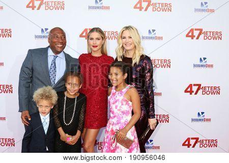 LOS ANGELES - JUN 12:  Byron Allen, Claire Holt, Jennifer Lucas, Olivia Allen, Chloe Allen, Lucas Allen at the