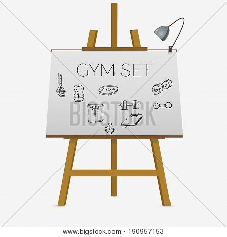 Set Of Gym Elements