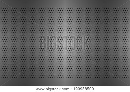 Perforated metal texture aluminium grating abstract background vector illustration