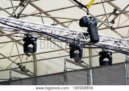 Stage Lights. Soffits. Concert Light