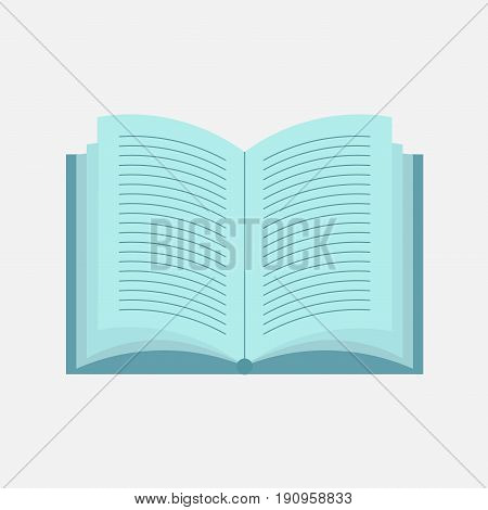 icon open bookflat design reading book learning reading vector image