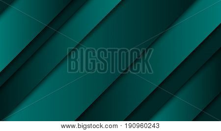 Abstract green background diagonal lines and strips vector illustration