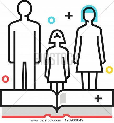 Color Box Icon, Child Custody Illustration, Icon