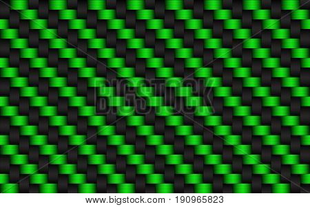 Black and green abstract background metallic carbon look vector illustration