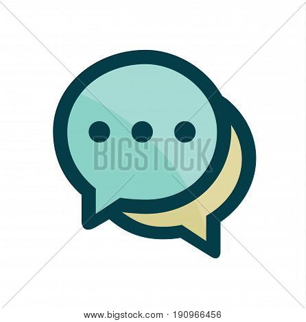 Speech bubbles icon.  Message icon. Vector stock.