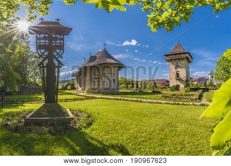 Gura Humorului monastery and churc, Bucovina Romania