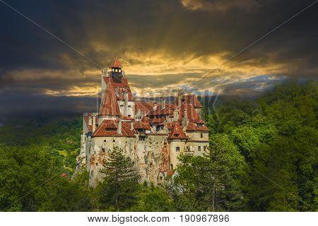 Dracula castle Brasov landmark Transylvania Romania.