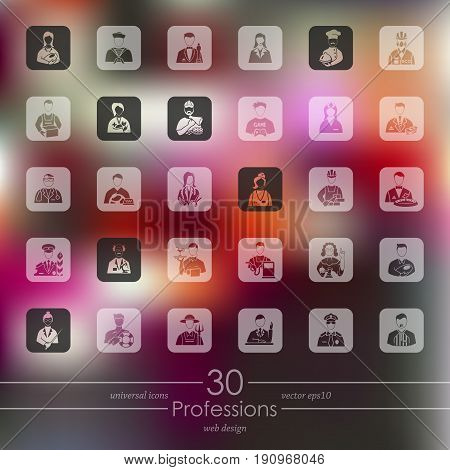 It is a Set of professions icons