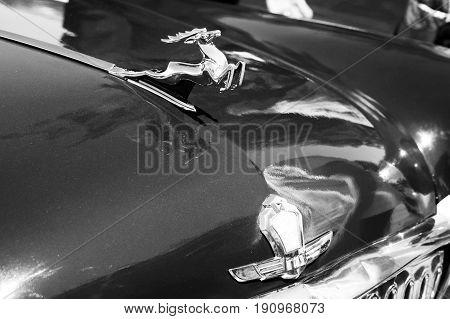 Izhevsk, Russia. June 12, 2017. Retro auto show in Metropolis shopping center. Soviet car GAS