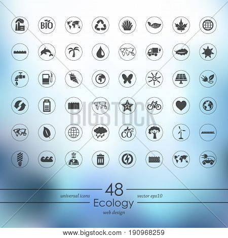 It is a Set of ecology icons