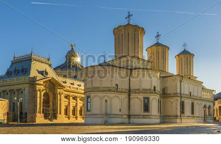 Patriarchal orthodox cathedral in Bucharest city, Romania.