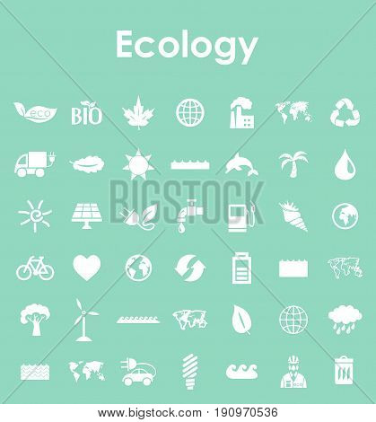 It is a Set of ecology simple icons