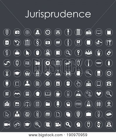It is a Set of jurisprudence simple icons