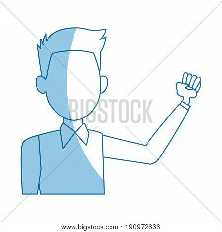 politician male character business suit standing vector illustration