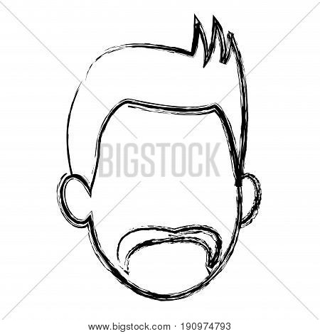 default face head man male character image vector illustration