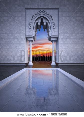 3D Rendering Image Of Modern Islamic Style