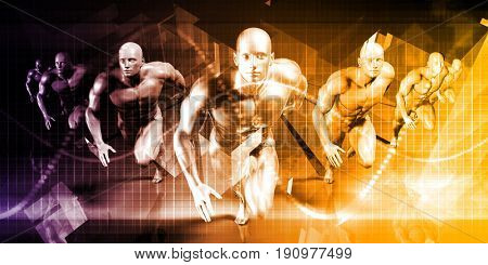 High Performing Business People Company Team Art 3D Illustration Render