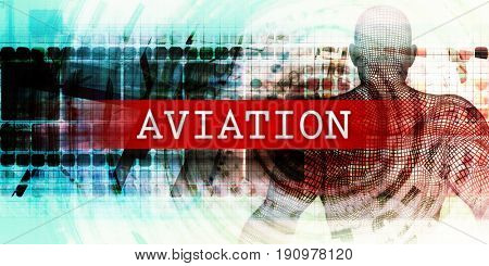 Aviation Sector with Industrial Tech Concept Art