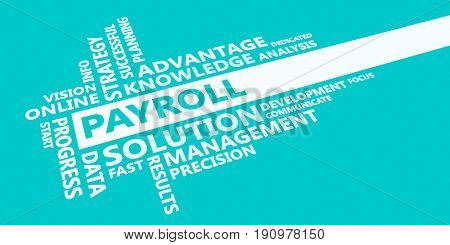Payroll Presentation Background in Blue and White
