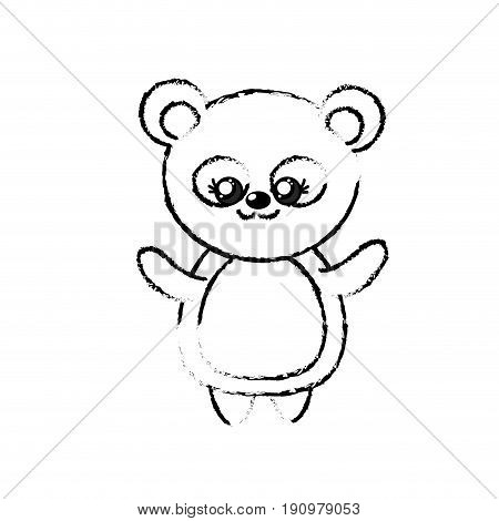 figure beautiful cute animals with expression face vector illustration