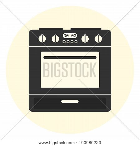 Flat Oven Icon, Kitchen Equipment, Cooking Stove