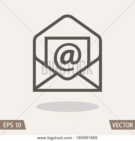 Mail flat icon open envelop e-mail symbol. Vector illustration for web and commercial use.