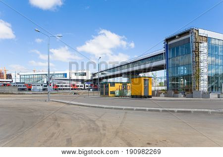 The new station of the Moscow central ring