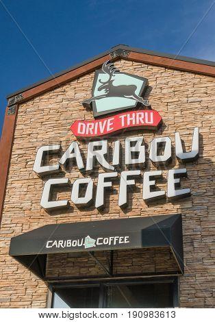 Caribou Coffee Exterior And Logo