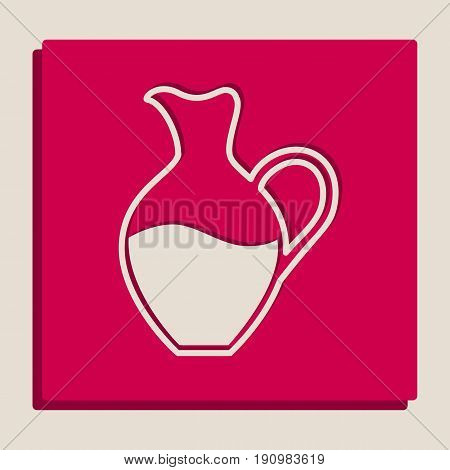 Amphora sign. Vector. Grayscale version of Popart-style icon.