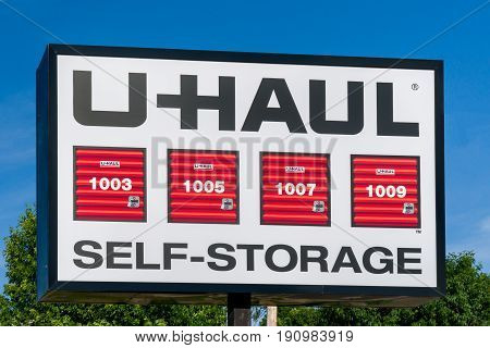 U-haul Self Self Storage Sign And Trademark