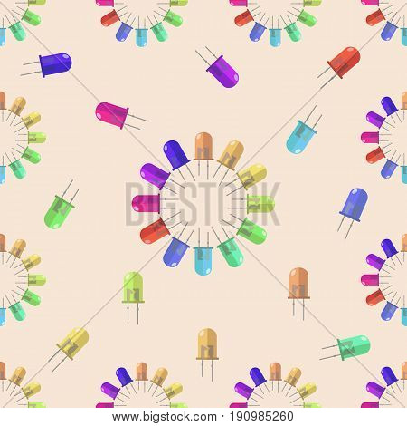 Lantern seamless pattern for your design, vector illustration. Diod