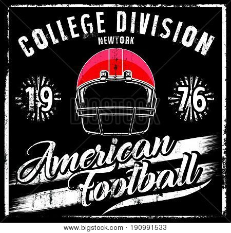 American football Helmet Varsity t shirt graphics vector graphics and typography t-shirt design