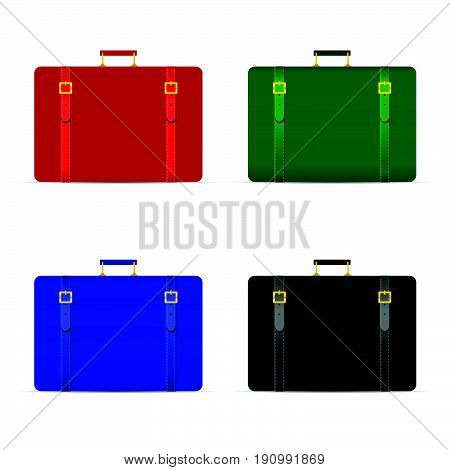 Travel Bag Set In Four Color Illustration