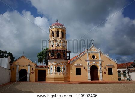 Santa Barabara Chruch in the sleepy town of Mompox, Colombia