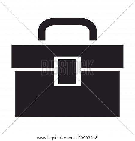 tools kit box plumbing equipment icon vector illustration