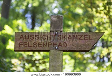Panoramic View Of The Felsenweg Trail In Trier Rhineland Palatinate Germany