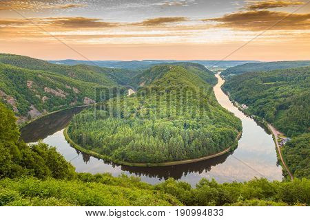 Saar Loop At Mettlach In Saarland Germany