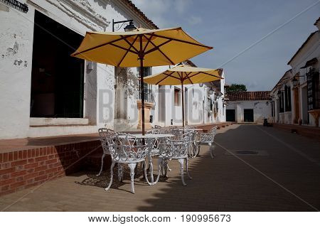 A cafe in the sleepy town of Mompox, Colombia