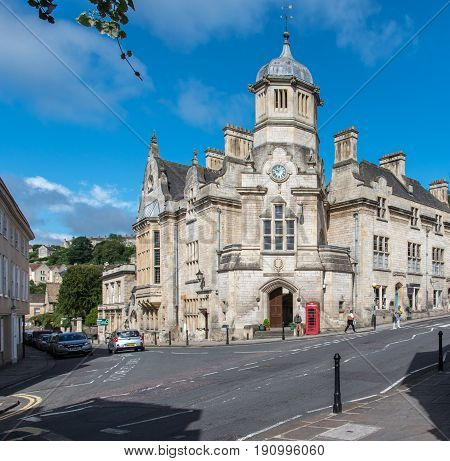 The Catholic Church in the centre of Bradford on Avon Wiltshire UK