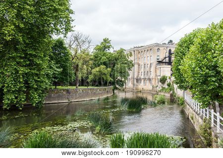 A view of the river at Bradford on Avon Wiltshire UK