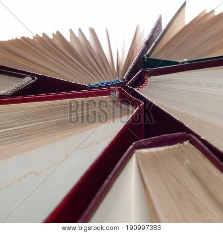 On Top Of The Hardcover Books,