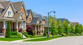 Custom built luxury houses in the suburbs of Toronto, Canada. poster